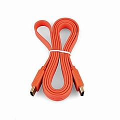 Haute SPPED HDMI Version 1.4 Colorful Cable plat pour Samsung SONY HDTV LED intelligent, Apple TV et autres (1,5 m, couleurs assorties)
