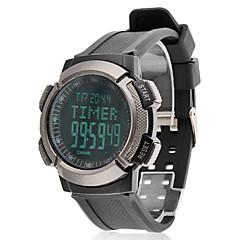 ความดันอากาศของผู้ชายดิจิตอล LCD ยางรัดนาฬิกาข้อมือ (สีดำ)