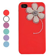 Vintage Pearl Flower Pattern Hard Case for iPhone 4/4S(Assorted Colors)