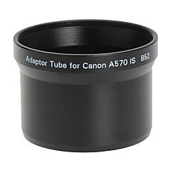 52mm lens en het filter Adapter Tube voor Canon A570 IS B52 Black