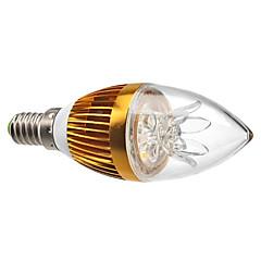 3W E14 LED Kerzen-Glühbirnen C35 3 High Power LED 270 lm Warmes Weiß Dekorativ / Dimmbar AC 220-240 V