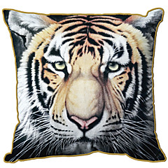 Bengal Tiger Pattern Print Velet Decorative Pillow Cover