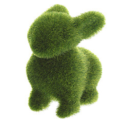 Grass Land animaux lapin main avec gazon artificiel