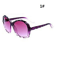 Woman's Diamond Cutting Frame Shape Sunglasses