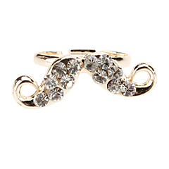 Diamond Bread Shaped Adjustable Ring