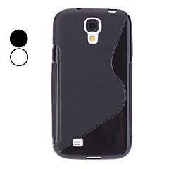 S-Shape TPU Mjuk Väska till Samsung Galaxy S4 I9500 (blandade färger)