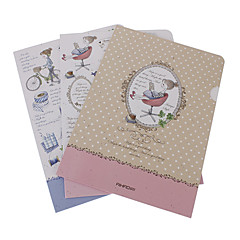 Girl Pattern Paper File Holder (Random Color)