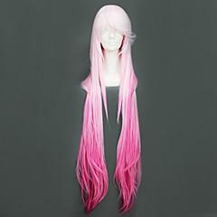 코스프레 가발 길티크라운 Inori Yuzuriha 핑크 롱 에니메이션 코스프레 가발 110 CM 열 저항 섬유 여성