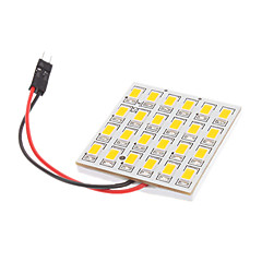 T10/BA9S/Festoon 5W 24x5730SMD Warm White Light LED Bulb for Car Reading Lamp (12V)