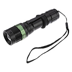 SA8 Focus Justerbar zoom 3-Mode Cree XR-E Q5 LED lommelygte sæt med batterioplader (200LM, 1x18650, 3xAAA)