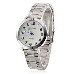 Vrouwen Steel analoge quartz horloge (zilver)