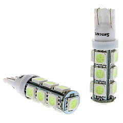 T10 2W 13x5050SMD Ice Blue Light LED für Auto-Instrument / License Plate / Blinkleuchten (DC 12V, 1-Pair)