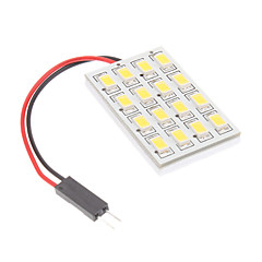 T10/BA9S/Festoon 3.5W 16x5730SMD Natural White Light LED pære til bil Reading Lamp (12V)