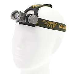 3-Mode Cree XR-E Q5 Zoom LED-Scheinwerfer (200LM, 1x18650, Silber)