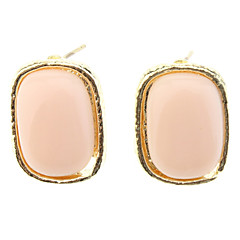OLL Simple Edge Rectangle Earrings
