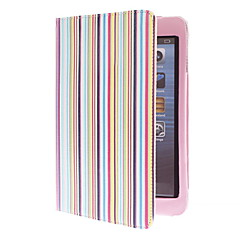 Colorful Stripes Pattern PU Leather Case with Stand for iPad mini 3, iPad mini 2, iPad mini