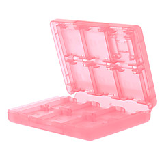 28-A-1 Storage Card Cases juego para DSi, DS Lite y 3DS (Rojo)