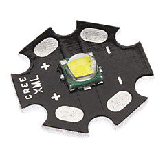 Cree XML-T6 White Light 20mm LED lampan (Svart)