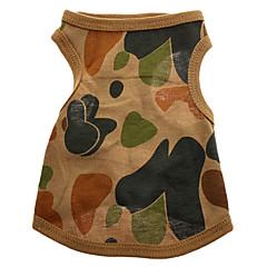 Región Montañosa Camouflage Pattern puro chaleco de algodón para perros (XS-L)