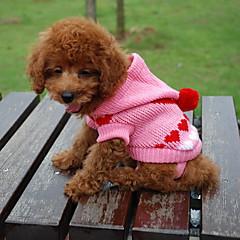 warmen Pullover mit Deckel für Hunde Katzen (zufällige Farbe, XS-XL)