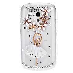 Bling Bling Dancer Design Hard Case med Rhinestone för Samsung Galaxy S3 Mini I8190