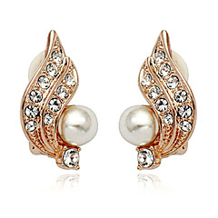 Pretty Alloy And 18K Gold quickly rated Plated Women's Earrings