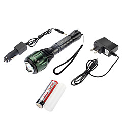 Samllsun Waterproof Recharge 4-Mode Cree T6 Lanterna Led ZY-F04T (350LM, 1x18650, Black)