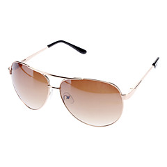 Unisex Gradient Brown Lens Brown Frame Aviator Sunglasses