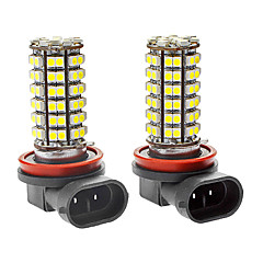 H8 5W 300LM 96x3528SMD White Light LED Car Dimljus (DC 12V, 1-Pair)
