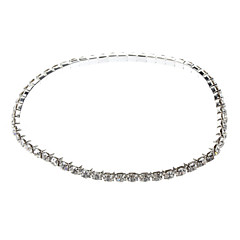 Silver Plating Single Row Rhinestones Anklet