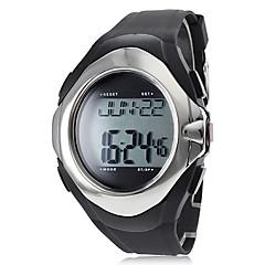 Herren Sportuhr digital LCD / Kalender / Chronograph / Wasserdicht / Alarm Band Schwarz Marke-