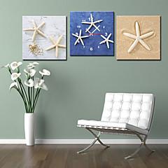 Horloge murale solide de style moderne en toile 3pcs