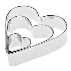 Σε σχήμα καρδιάς από ανοξείδωτο χάλυβα Κόφτες Set Cookie (3-Pack)