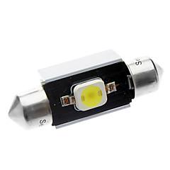 36 milímetros 2W 1x7060SMD 90-110LM 6000-6500K luz branca da lâmpada LED de carro (DC 12-18V)