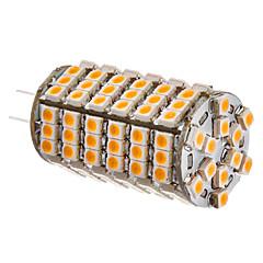 G4 6W 102x3528SMD 420-450LM 3000-3500K Warm White Light LED Corn Bulb (12V)