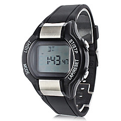 Unisex Calorie Counter Black Rubber Band Digital Wrist Watch with Heart Rate Monitor