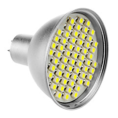 MR16 4W 60x3528SMD 200-240LM 6000-6500K Natural White Light LED Spot Bulb (12V)