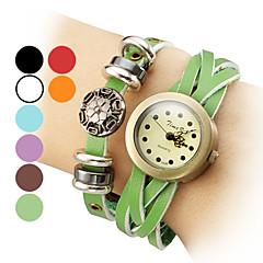 pu skóry kobiet bransoletka kwarcowy zegarek analogowy (różne kolory)