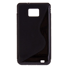 Μαύρο TPU μαλακή θήκη για το Samsung Galaxy S2 I9100