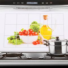 75x45cm verdure modello autoadesivo della parete della cucina a prova di olio impermeabile