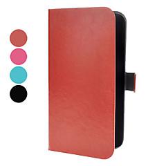 PU nahkainen Magnetic Snap ja korttipaikka Samsung Galaxy Mega 6,3 I9200 (eri värejä)