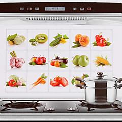 75x45cm hedelmät& vihannekset kuvio öljynkestäviä vesitiivis kuuma kestävä keittiö seinä tarra