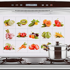 75x45cm fruit& groenten patroon olie-proof waterdichte hot-proof keuken muur sticker