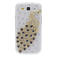 Bling Bling Peacock Design Hard Case with Rhinestone for Samsung Galaxy S3 I9300