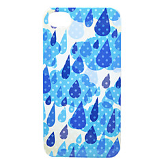 Blue Raindrop Back Case for iPhone 4/4S