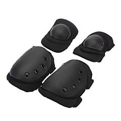 Outdoor Sports Skiing Knee Protector Guard Pads - Black (Size L / Pair)