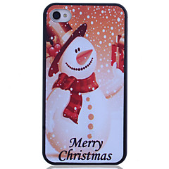 Snowman Printing Back Case for iPhone 4/4S