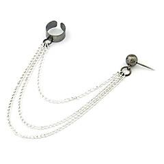 kvinders europæiske og amerikanske stil tekstureret sølv øre klip e389