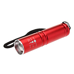 3-mode Cree Zoom torcia LED (200LM, 1xAA, Rosso)