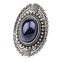 Women's Vintage wild oval gemstone rings (random color)